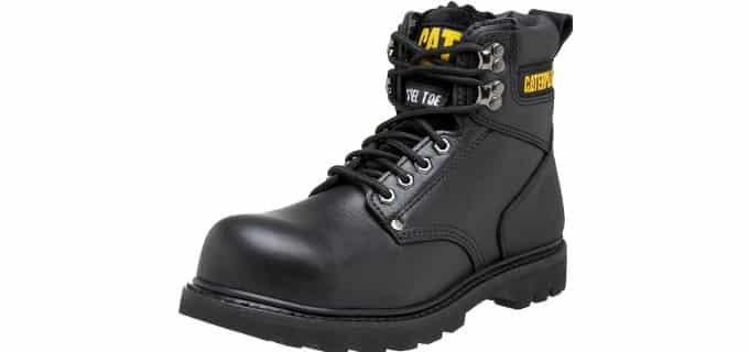Caterpillar Men's Second Shift - Steel Toe Work Boots for Plantar Fasciitis