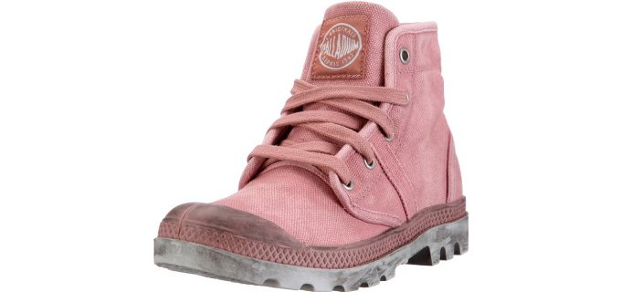 Palladium Women's Pallabrouse - Canvas Light Pink Combat Boots