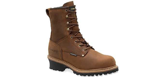 Carolina Men's 8-Inch Insulated Steel Toe Logger - 600 Grams Work Boots