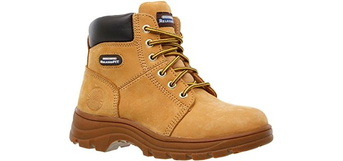 Skechers Women's Workshire Fitton - Comfortable Soft Toe Work Boots