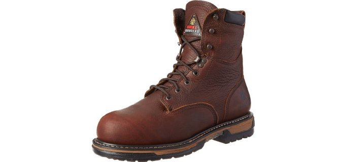 Rocky Men's Iron Clad - 8 Inch ST Work Boots for Landscaping
