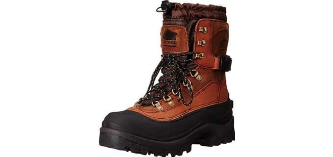 Sorel Men's Conquest - Rugged Ice Fishing Boot with Ankle Support