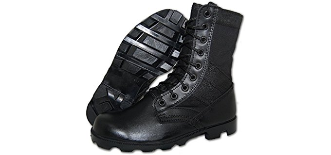 COMBAT Men's Jungle Boot - Leather and Canvas Combat Boot