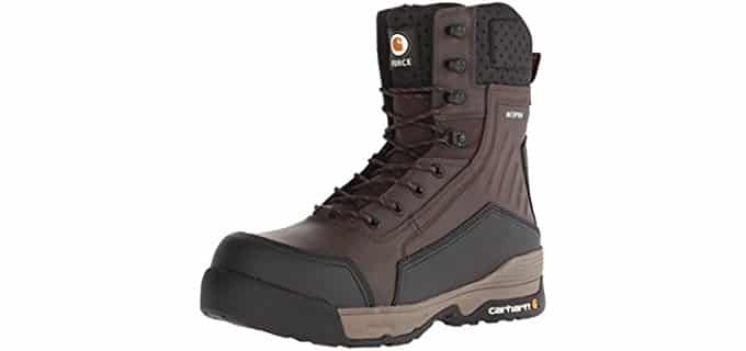 Carhartt Men's 8 Inch Force - Composite Toe Work Boots for Sweaty Feet