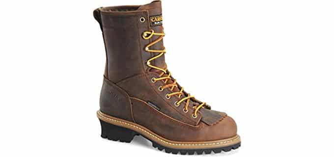 Carolina Men's CA9824 - Waterproof Steel Toe Logger Work Boots