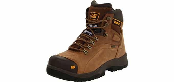 Caterpillar Men's Diagnostic - 6-Inch Safety Steel-Toe Waterproof Work Boots