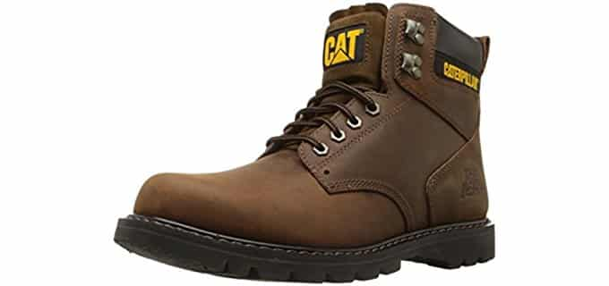 Caterpillar Men's Second Shift - Soft Toe Work boots for Heel Pain and Plantar Fasciitis