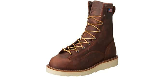 Danner Men's Bull Run - 8 Inch Wedge Sole Work Boot for Hot Weather