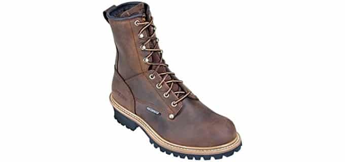Carolina Men's 8-Inch Steel Toe Loggers - Waterproof Work Boots