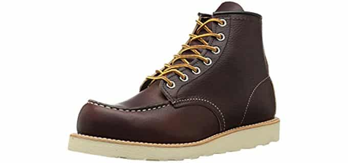 RedWing Men's Heritage - 6 Inch Moc Toe Comfortable Work Boot
