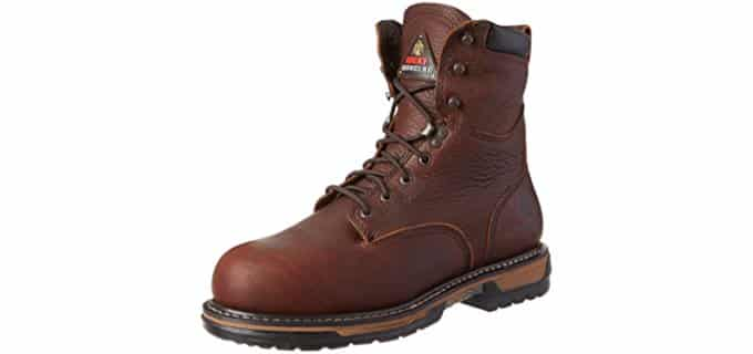 Rocky Men's Iron Clad - 8 Inch Steel Toe Lace-Up Workboot