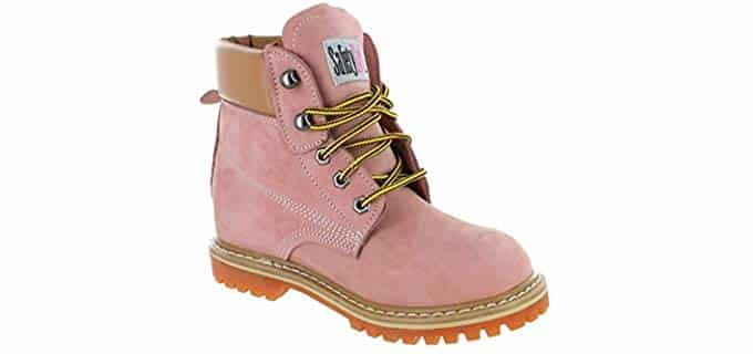 Safety Girl Women's II Soft Toe Waterproof - Light Pink Work Boots